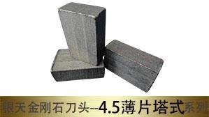 银天4.5薄片塔式组合锯刀头